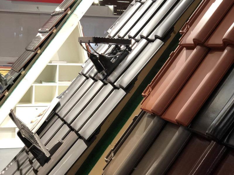Detailfotografie Dachbeläge