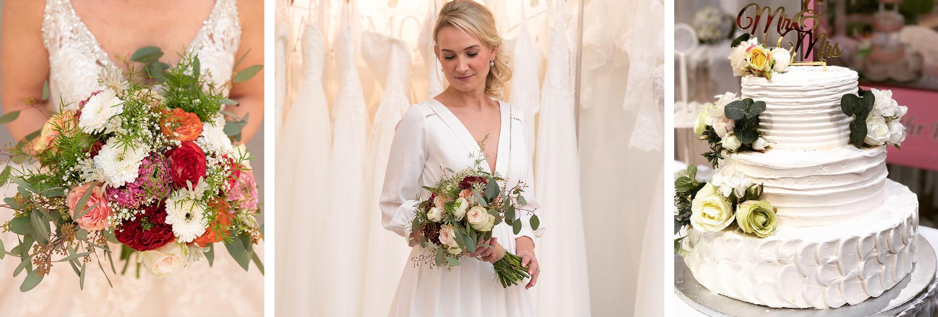 Fotocollage Impressionen von der Hochzeitsmesse in Bad Salzuflen