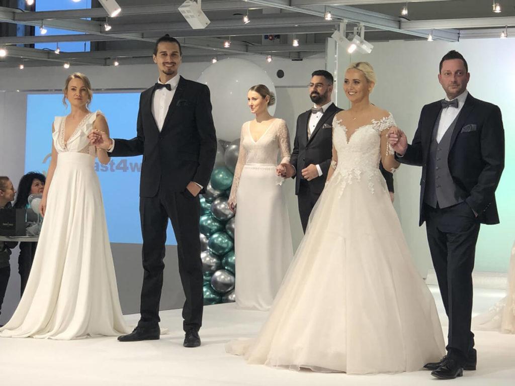 Foto Brautpaare bei der Modenschau auf der Hochzeitsmesse