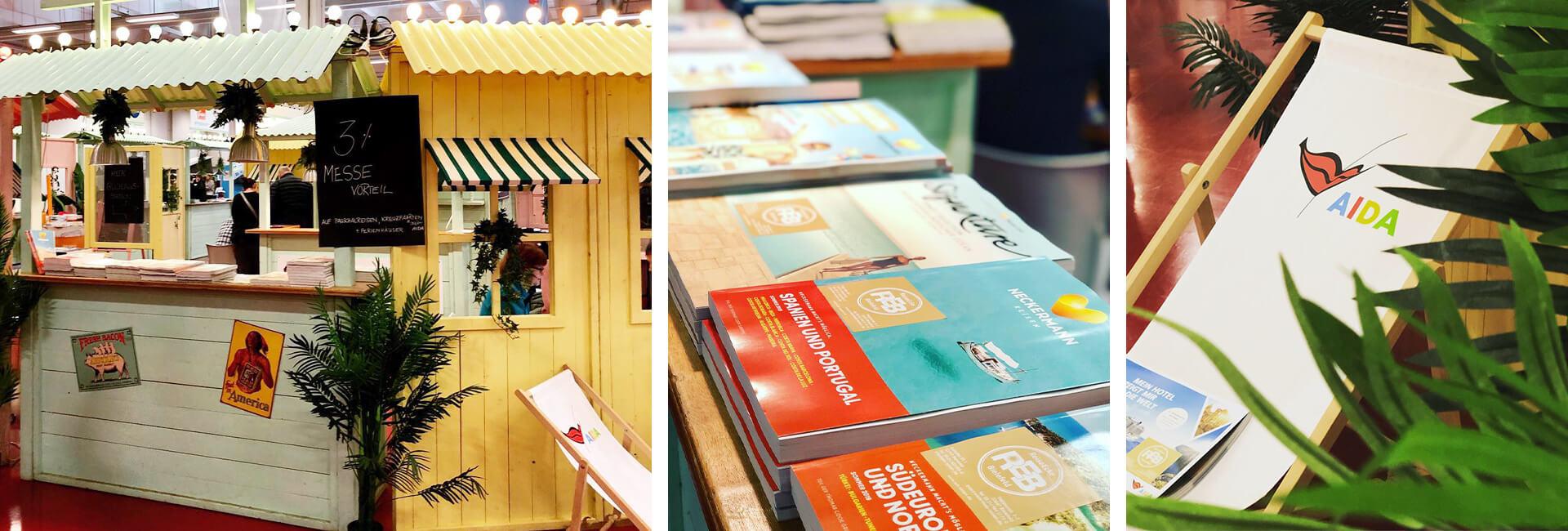 Fotocollage Impressionen von der Reisemesse in Bad Salzuflen