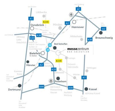 Lageplan Messezentrum Bad Salzuflen