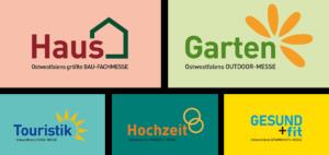 Logo Collage Haus Garten Touristik Hochzeit Gesund+fit