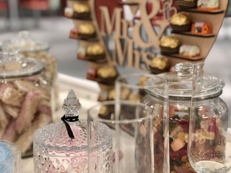 Candy Bar in der Ausstellung der Hochzeitsmesse Bad Salzuflen 2020