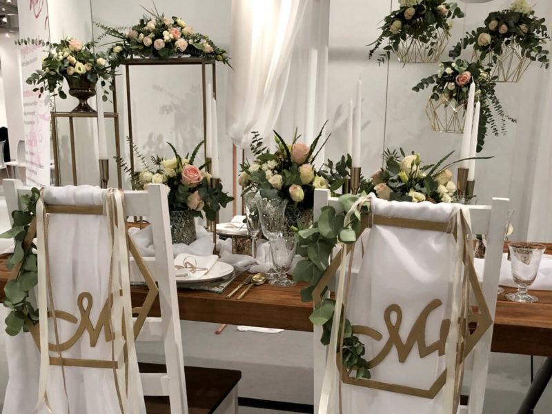 Tischdekoration in der Ausstellung der Bad Salzufler Hochzeits-Messe 2020